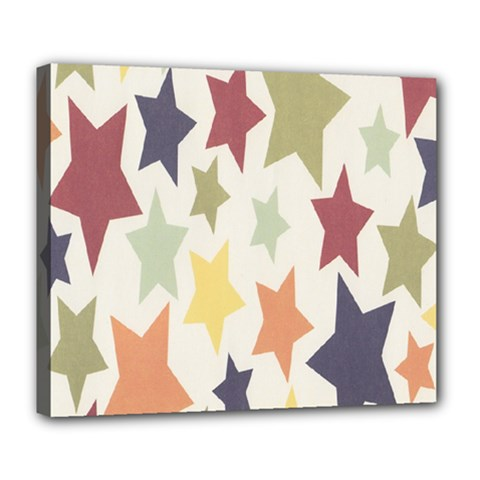 Star Colorful Surface Deluxe Canvas 24  x 20