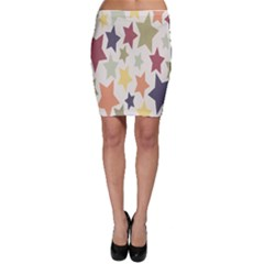 Star Colorful Surface Bodycon Skirt