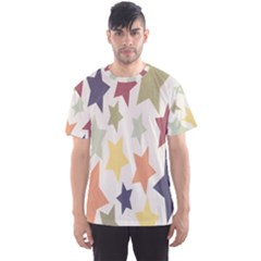 Star Colorful Surface Men s Sport Mesh Tee