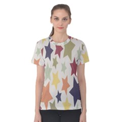 Star Colorful Surface Women s Cotton Tee