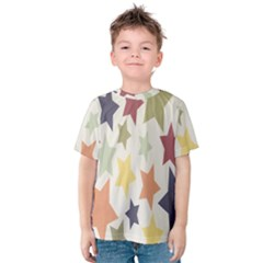 Star Colorful Surface Kids  Cotton Tee
