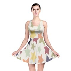 Star Colorful Surface Reversible Skater Dress