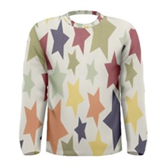 Star Colorful Surface Men s Long Sleeve Tee