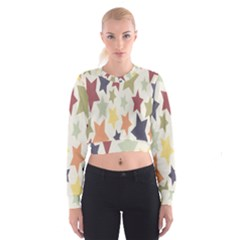 Star Colorful Surface Women s Cropped Sweatshirt