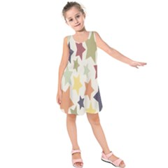 Star Colorful Surface Kids  Sleeveless Dress