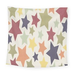 Star Colorful Surface Square Tapestry (large)