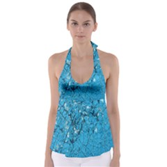 Surface Grunge Scratches Old Babydoll Tankini Top