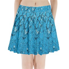 Surface Grunge Scratches Old Pleated Mini Skirt