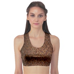 Texture Background Rust Surface Shape Sports Bra