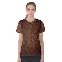 Texture Background Rust Surface Shape Women s Cotton Tee