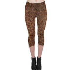 Texture Background Rust Surface Shape Capri Leggings