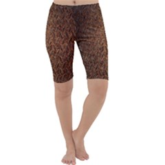 Texture Background Rust Surface Shape Cropped Leggings