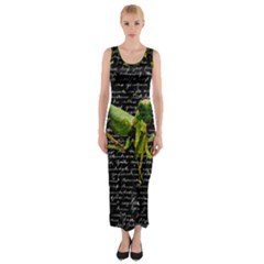 Mantis Fitted Maxi Dress