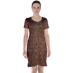 Texture Background Rust Surface Shape Short Sleeve Nightdress