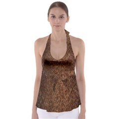 Texture Background Rust Surface Shape Babydoll Tankini Top