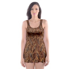 Texture Background Rust Surface Shape Skater Dress Swimsuit