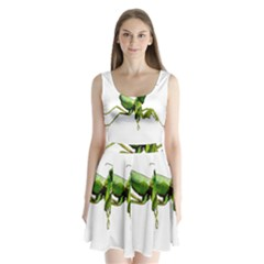 Mantis Split Back Mini Dress