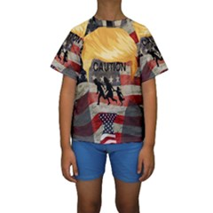Caution Kids  Short Sleeve Swimwear