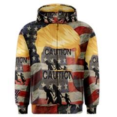 Caution Men s Zipper Hoodie
