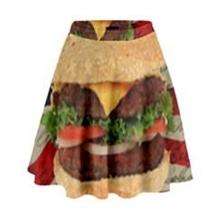 Hamburger High Waist Skirt