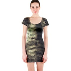 Kurt Cobain Short Sleeve Bodycon Dress