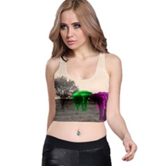Africa  Racer Back Crop Top