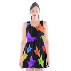 Paper cranes Scoop Neck Skater Dress