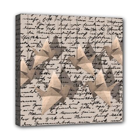 Paper cranes Mini Canvas 8  x 8
