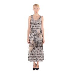 Paper cranes Sleeveless Maxi Dress