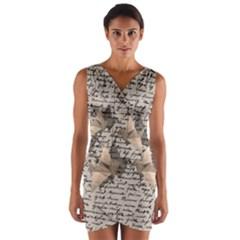 Paper cranes Wrap Front Bodycon Dress