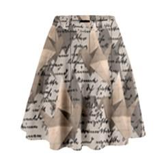 Paper cranes High Waist Skirt