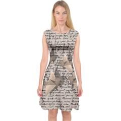 Paper cranes Capsleeve Midi Dress