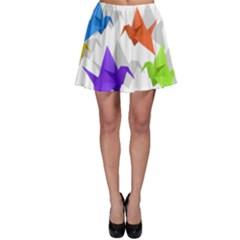 Paper cranes Skater Skirt