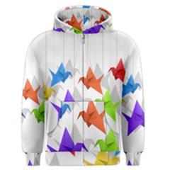 Paper cranes Men s Zipper Hoodie