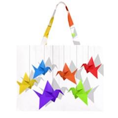 Paper cranes Large Tote Bag