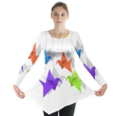 Paper cranes Long Sleeve Tunic