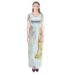 Rabbit  Short Sleeve Maxi Dress