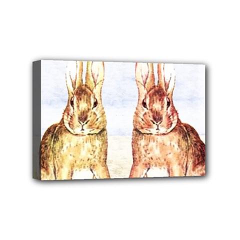 Rabbits  Mini Canvas 6  x 4