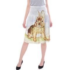 Rabbits  Midi Beach Skirt