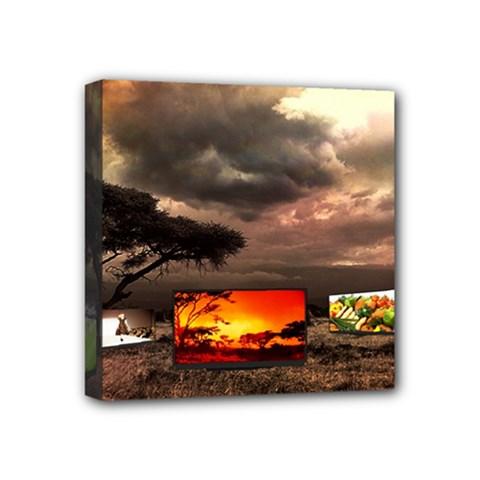 Africa Mini Canvas 4  x 4