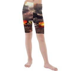 Africa Kids  Mid Length Swim Shorts