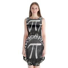 Pi Sleeveless Chiffon Dress