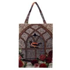 Vintage bird in the cage Classic Tote Bag