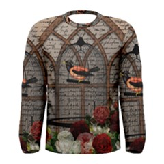 Vintage bird in the cage Men s Long Sleeve Tee
