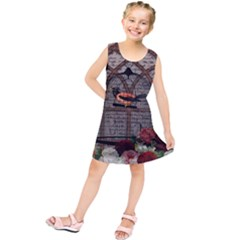Vintage bird in the cage Kids  Tunic Dress