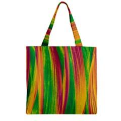 Pattern Zipper Grocery Tote Bag