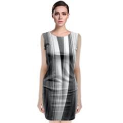 Pattern Classic Sleeveless Midi Dress