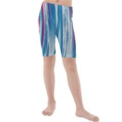 Pattern Kids  Mid Length Swim Shorts