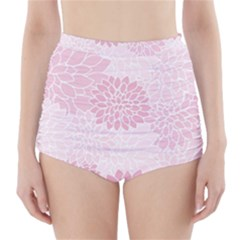 Floral pattern High-Waisted Bikini Bottoms