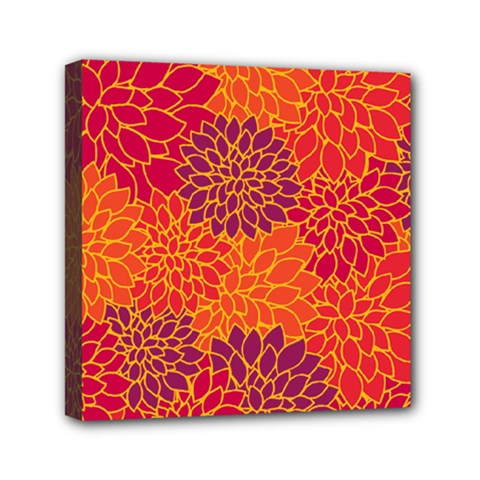 Floral pattern Mini Canvas 6  x 6